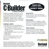 C++Builder 1.0 Professional CD Case Back