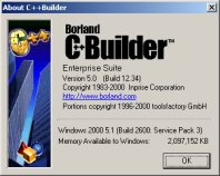 C++Builder 5 Enterprise About Box