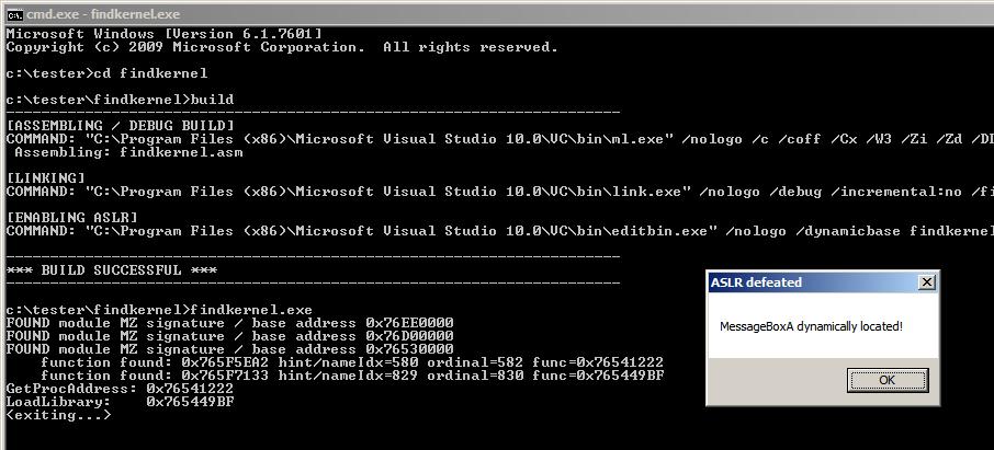 BYTE* / Shellcode Part 2: Locating KERNEL32 in ASLR memory