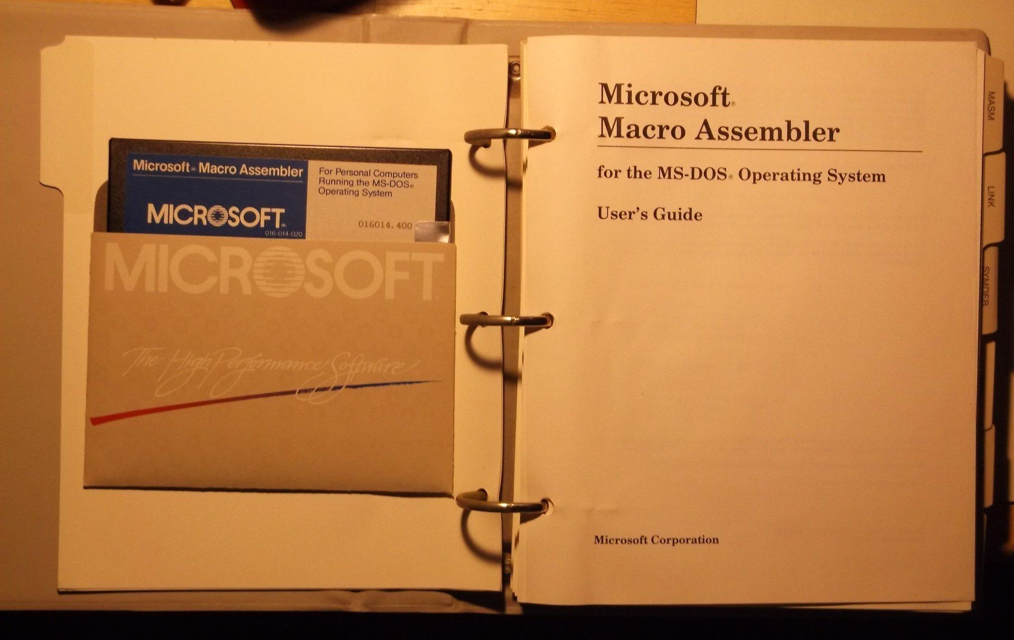 BYTE* / Microsoft Macro Assembler (MASM) Unofficial Changelist