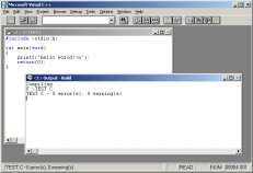 Microsoft Visual C++ 1.1 IDE (32-bit Edition)