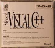 Microsoft Visual C++ 1.52c CD Back (16-bit)