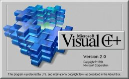 Microsoft Visual C++ 2.0 Splash Screen